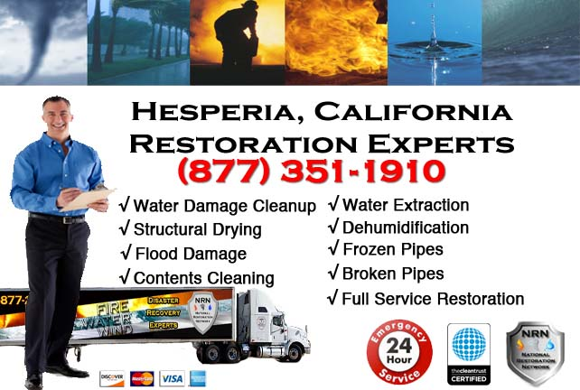 Hesperia water damage repairs