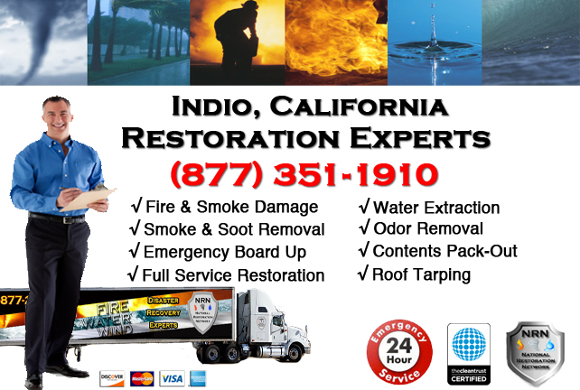 Indio Fire Damage Restoration Contractor