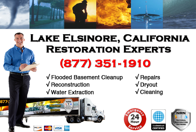 Lake Elisnore Flooded Basement Cleanup