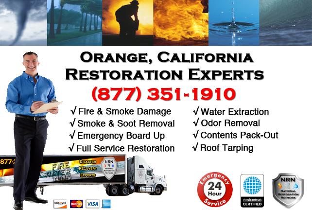 Orange Fire Damage Restoration Contractor
