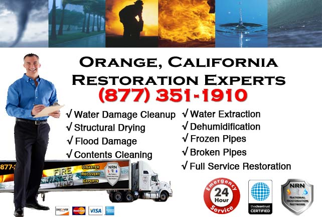 Orange water damage repairs