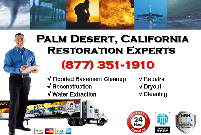 Palm Desert Flooded Basement Cleanup