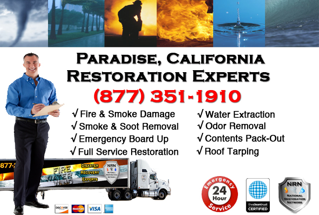 Paradise Fire Damage Restoration Contractor
