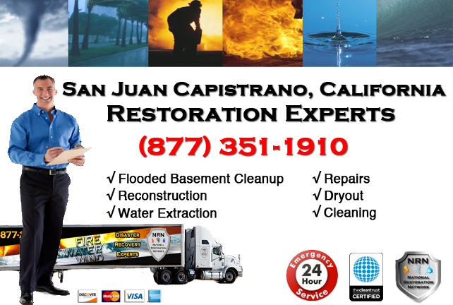 San Juan Capistrano Flooded Basement Cleanup