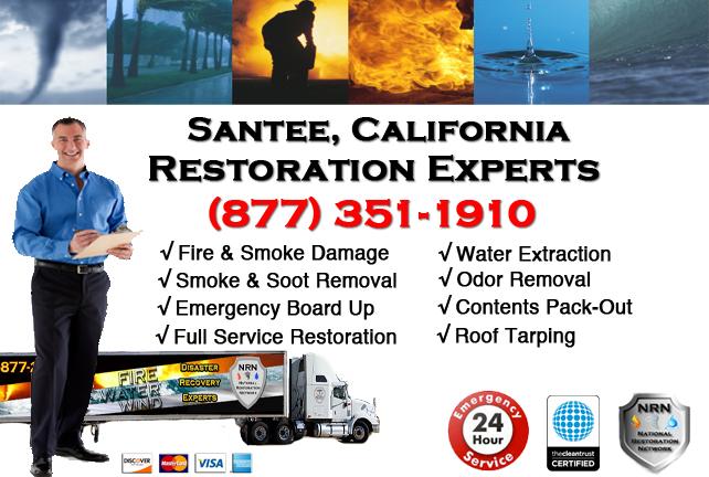 Santee Fire Damage Restoration Contractor