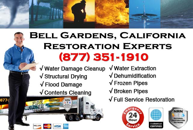 Bell Gardens water damage restoration