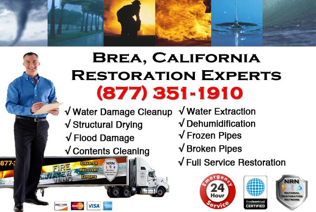 Brea water damage restoration