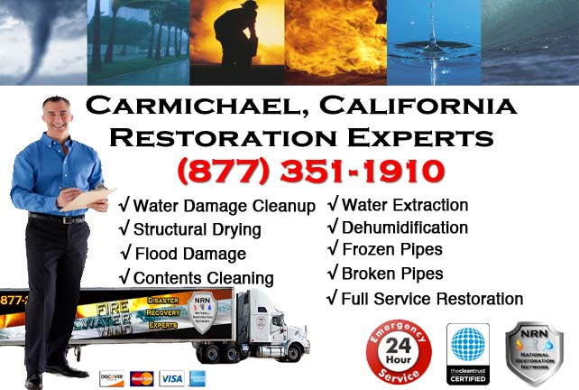 Carmichael water damage restoration