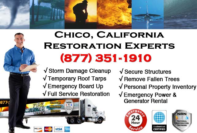 chico storm damage cleanup