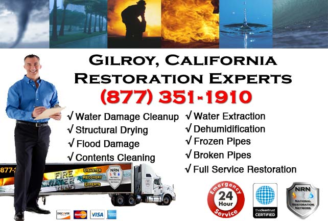 Gilroy water damage restoration