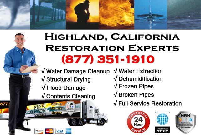 Highland water damage restoration