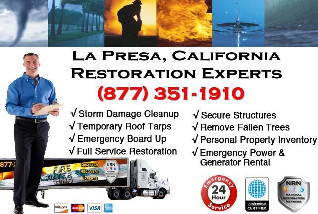 La Presa storm damage repairs