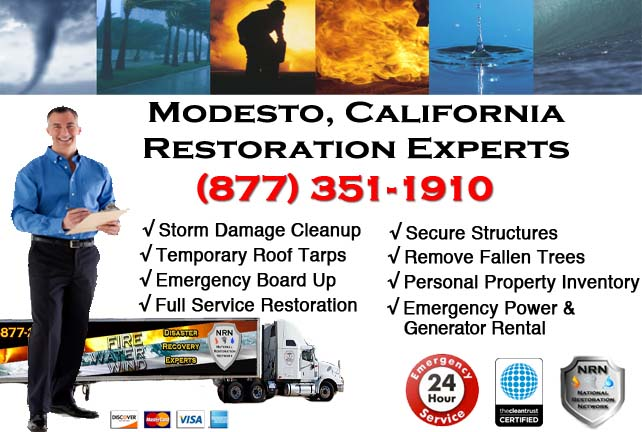 modesto storm damage cleanup