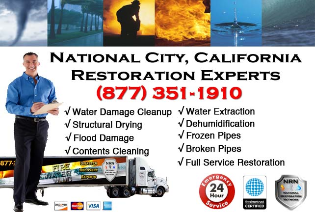 National City water damage restoration