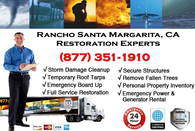 Rancho Santa Margarita water damage restoration