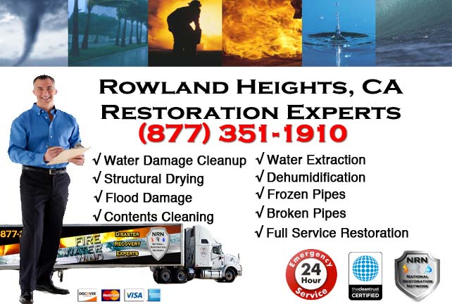 Rowland Heights water damage restoration