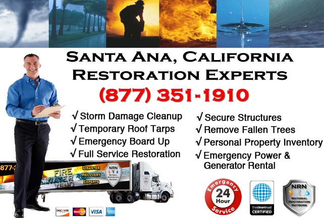 Santa Ana storm damage repairs