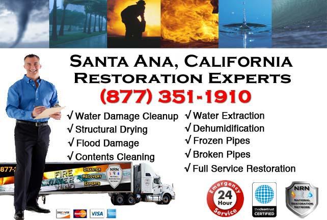 santa ana ca water damage cleanup