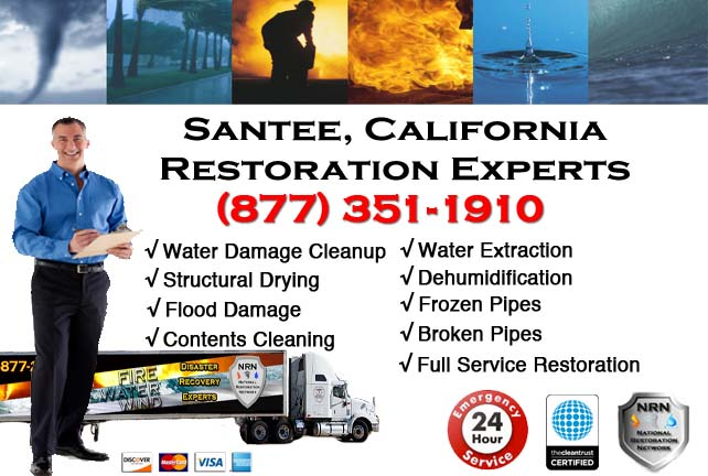 Santee water damage restoration