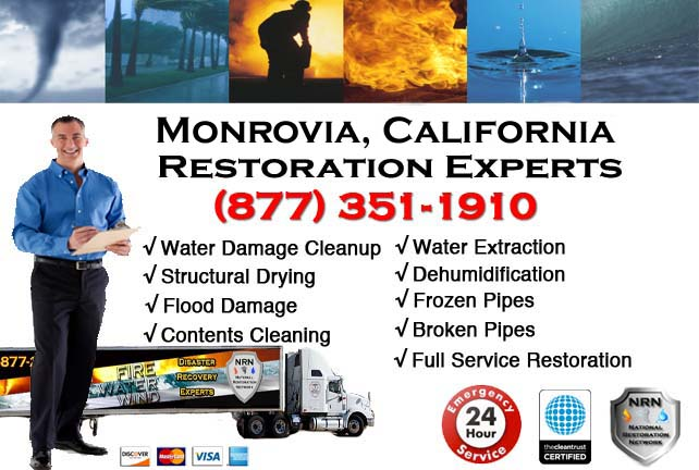 monrovia ca water damage cleanup