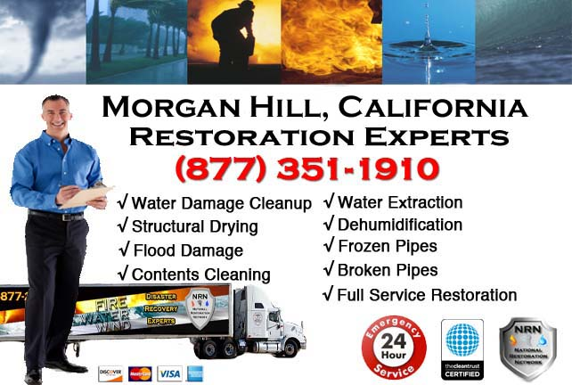 morgan hill ca water damage cleanup