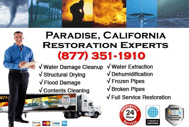 paradise ca water damage restoration
