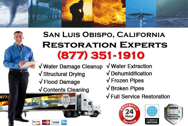 san luis obispo ca water damage restoration
