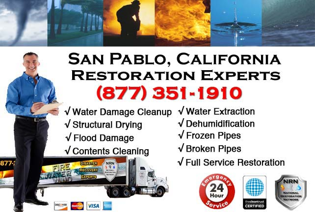 san pablo ca water damage cleanup