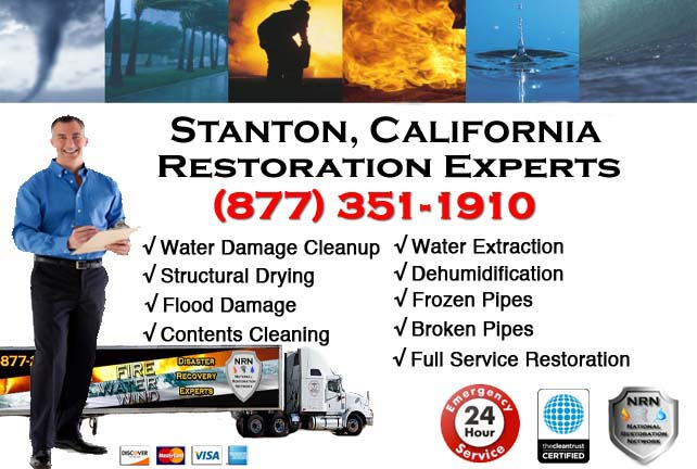 stanton ca water damage cleanup