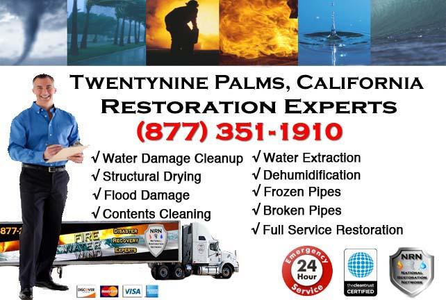 twentynine palms ca water damage cleanup