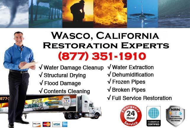 wasco ca water damage restoration
