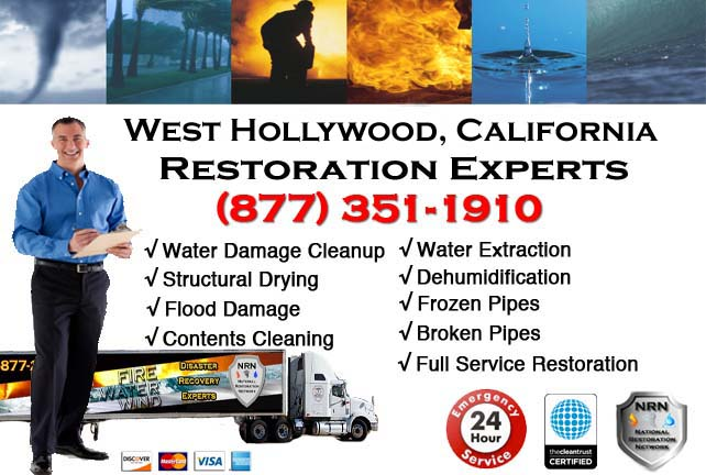 west hollywood ca water damage service