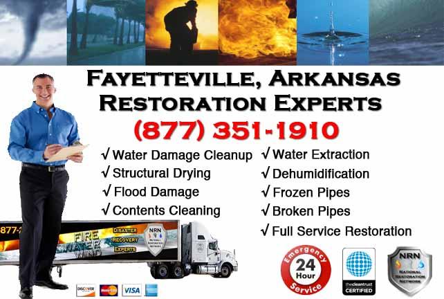 Fayetteville Water Damage Restoration