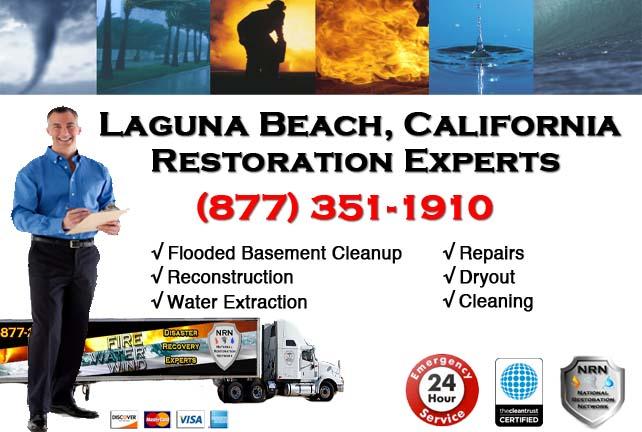 Laguna Beach Flooded Basement Cleanup