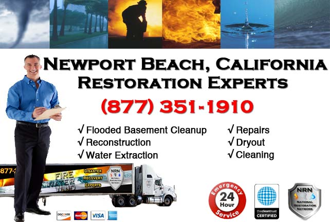 Newport Beach Flooded Basement Cleanup