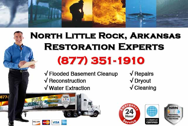 North Little Rock Flooded Basement Cleanup