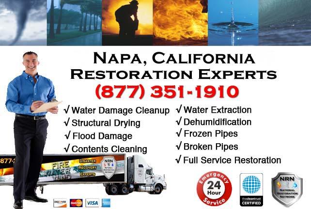 napa ca water damage restoration